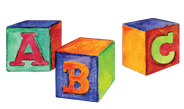 Colorful ABC blocks