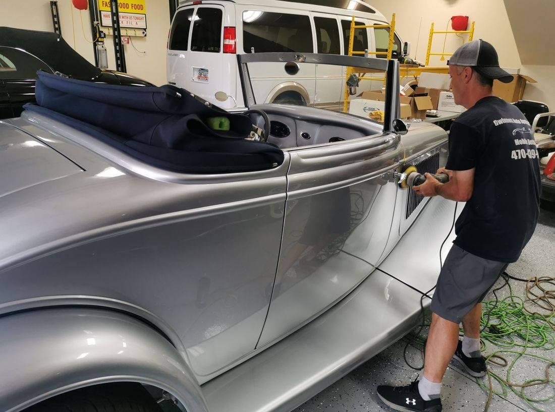 mobile car detailing, hand wax, Gwinnett Auto Appearance