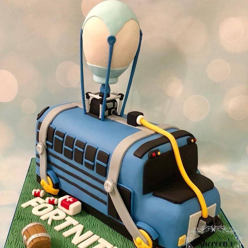 Fortnite Birthday Cake Battlebus Battle Bus