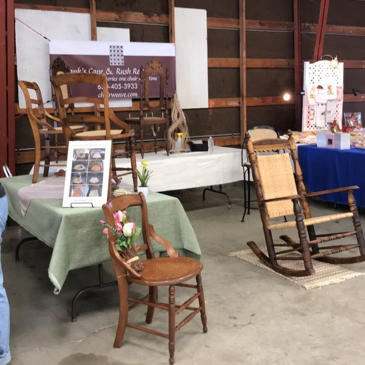 Our Booth at the Kane County Flea Market