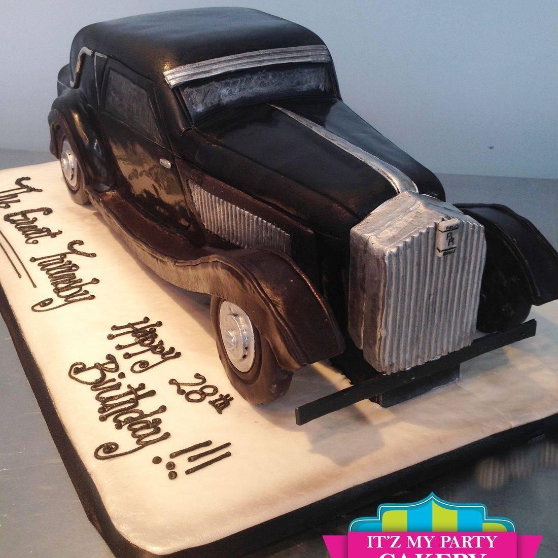 Rolls Royce Car  Cake Carved Dimensional Cake Milwaukee