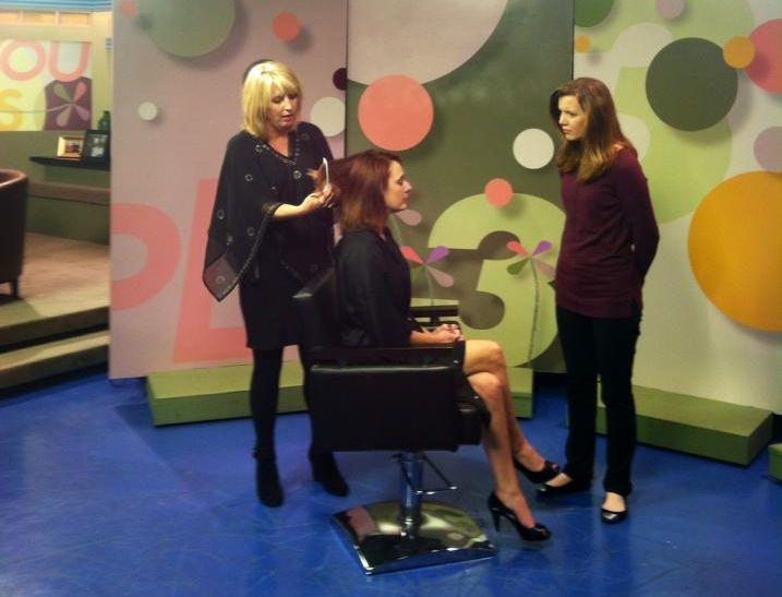 Teresa with model on Three Plus You, Channel 3