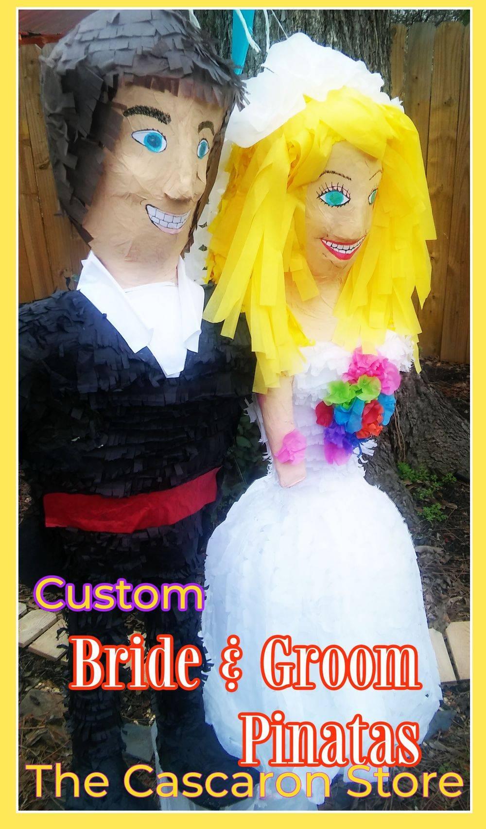 wedding bride and groom pinatas