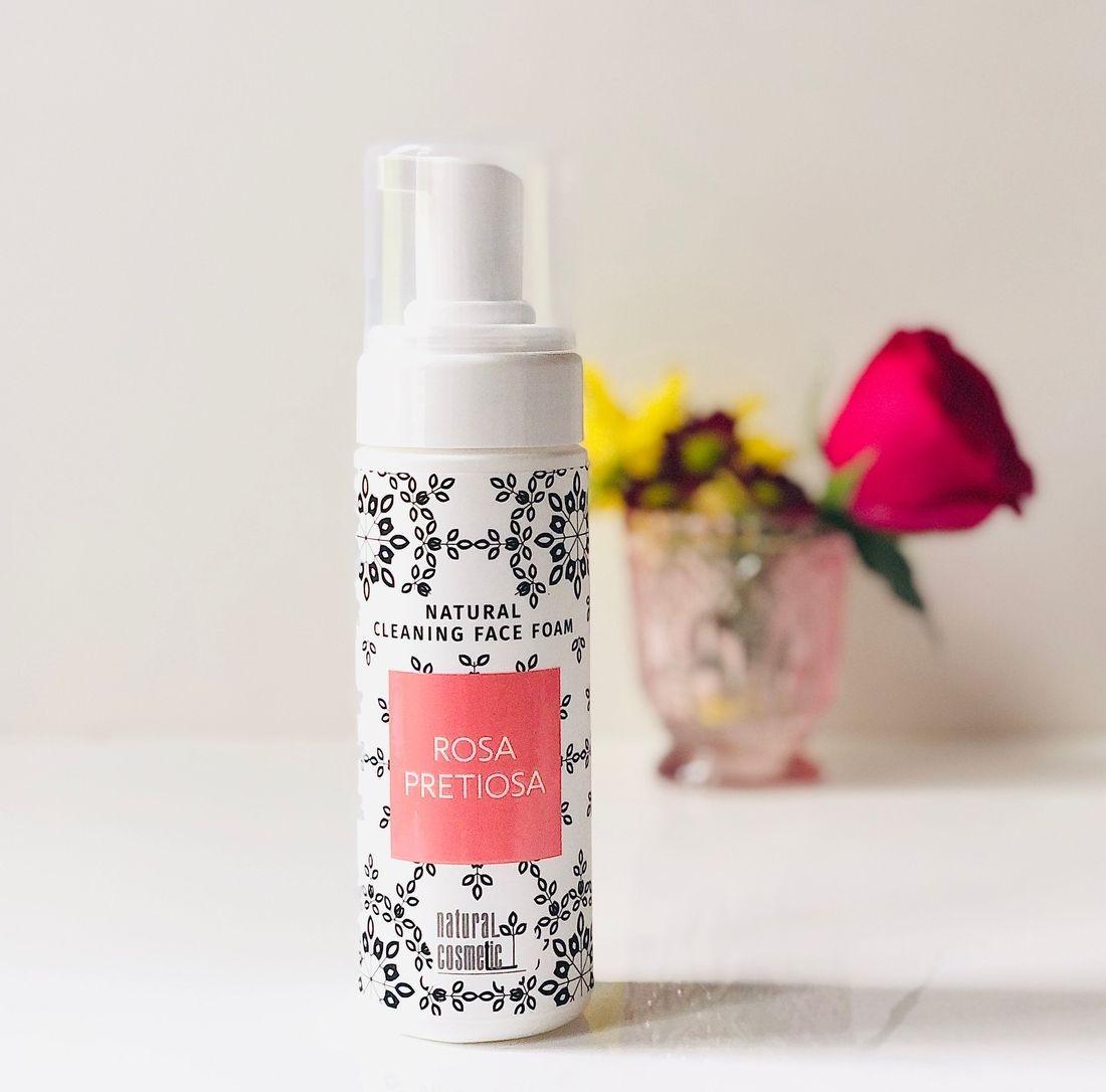 Rosa PrRosa Pretiosa Natural Cleansing Face Foam, rose face oil, clean rose beauty, rose face serum, rosepost box, clean beauty box