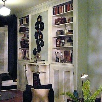 Sibra Kitchens Markham Toronto fireplace surround cabinets