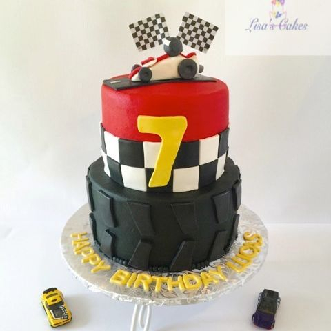 Racing themed Birthday Cake