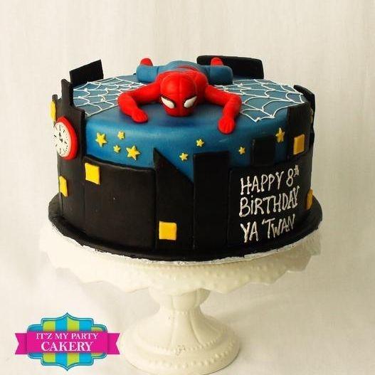 Custom Spiderman Climbing Cake Milwaukee
