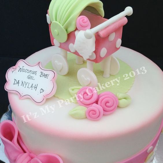 Custom Baby Carriage  Cake Milwaukee