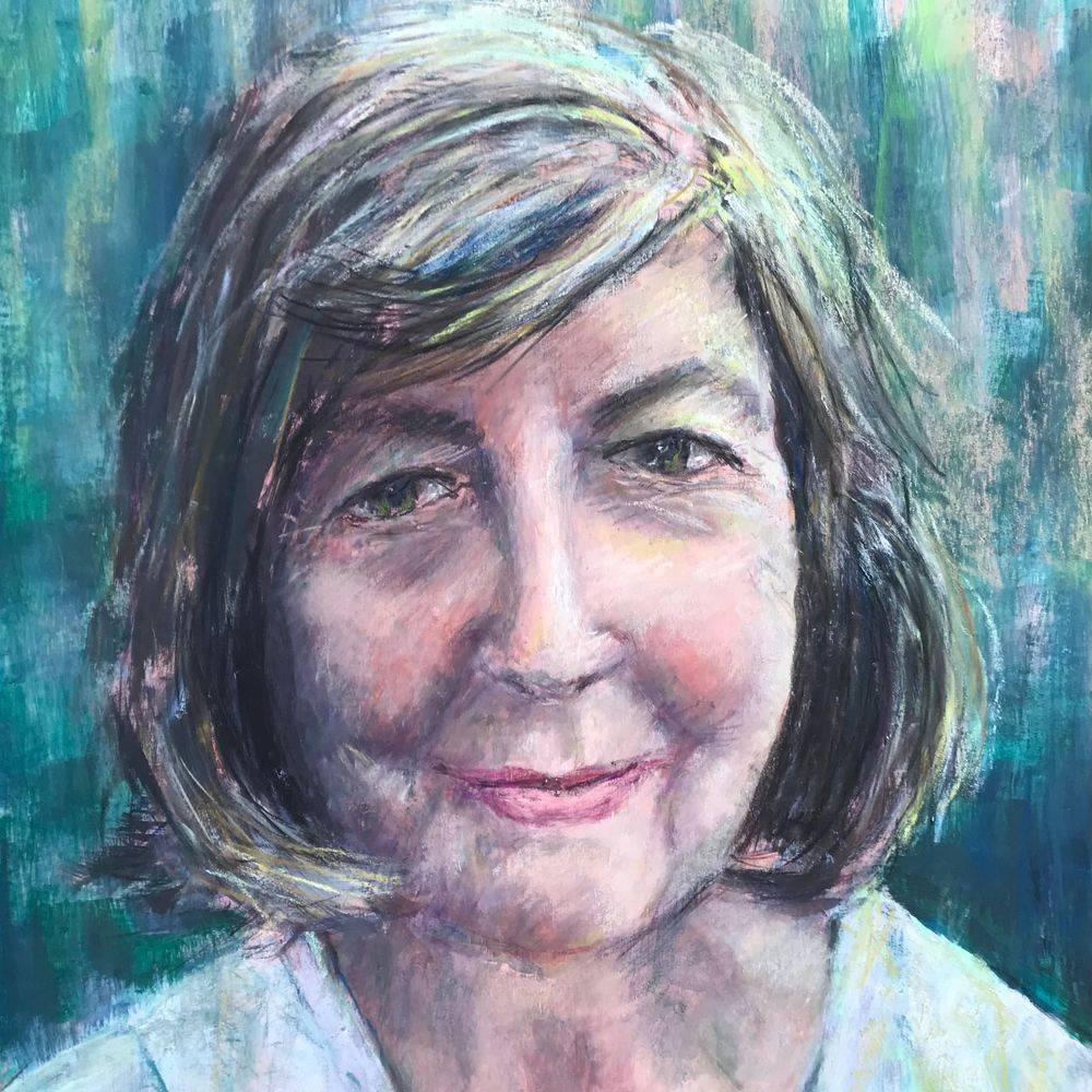 Marcia Kuperberg acrylic & pastel self-portrait