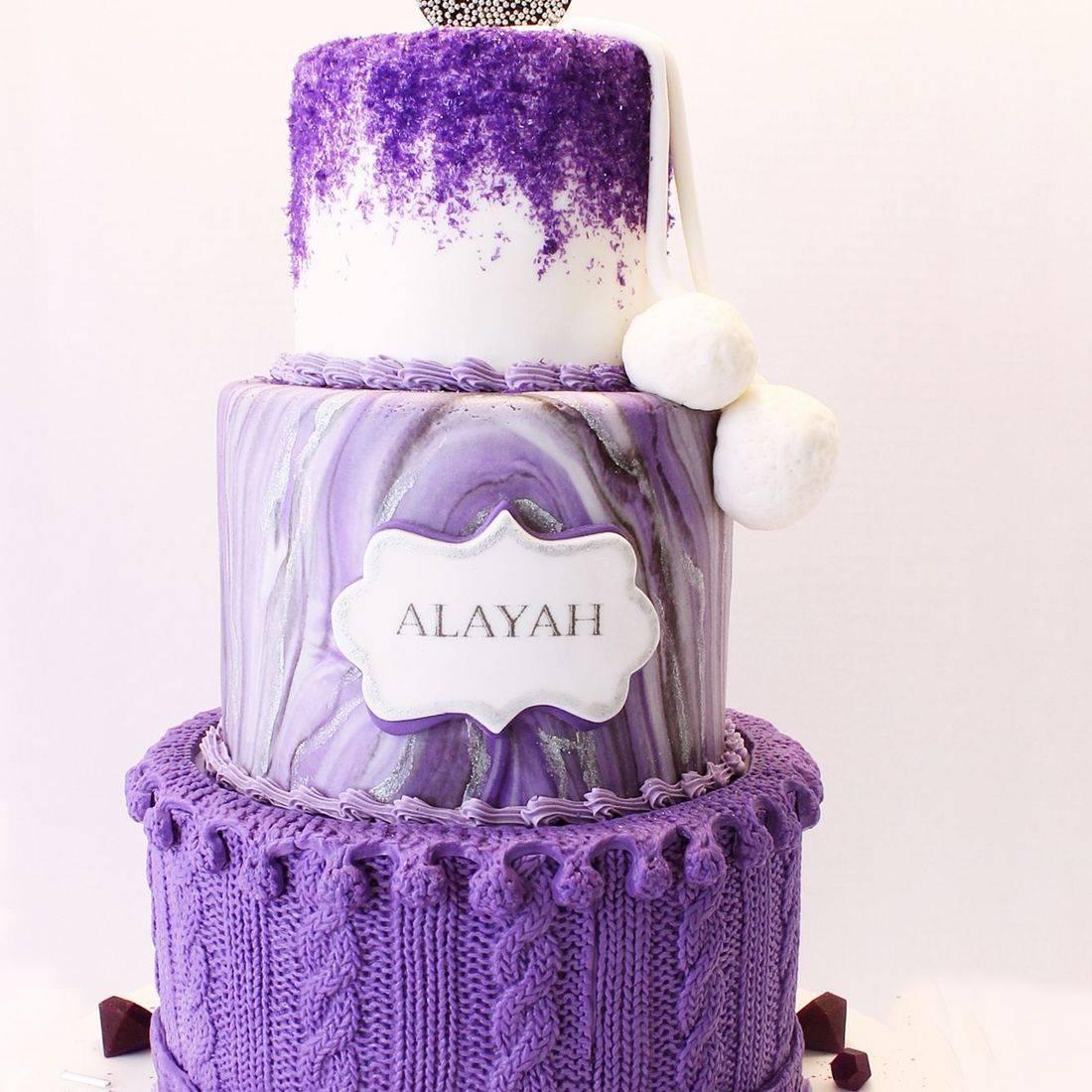 Purple Sweater Cake Milwaukee