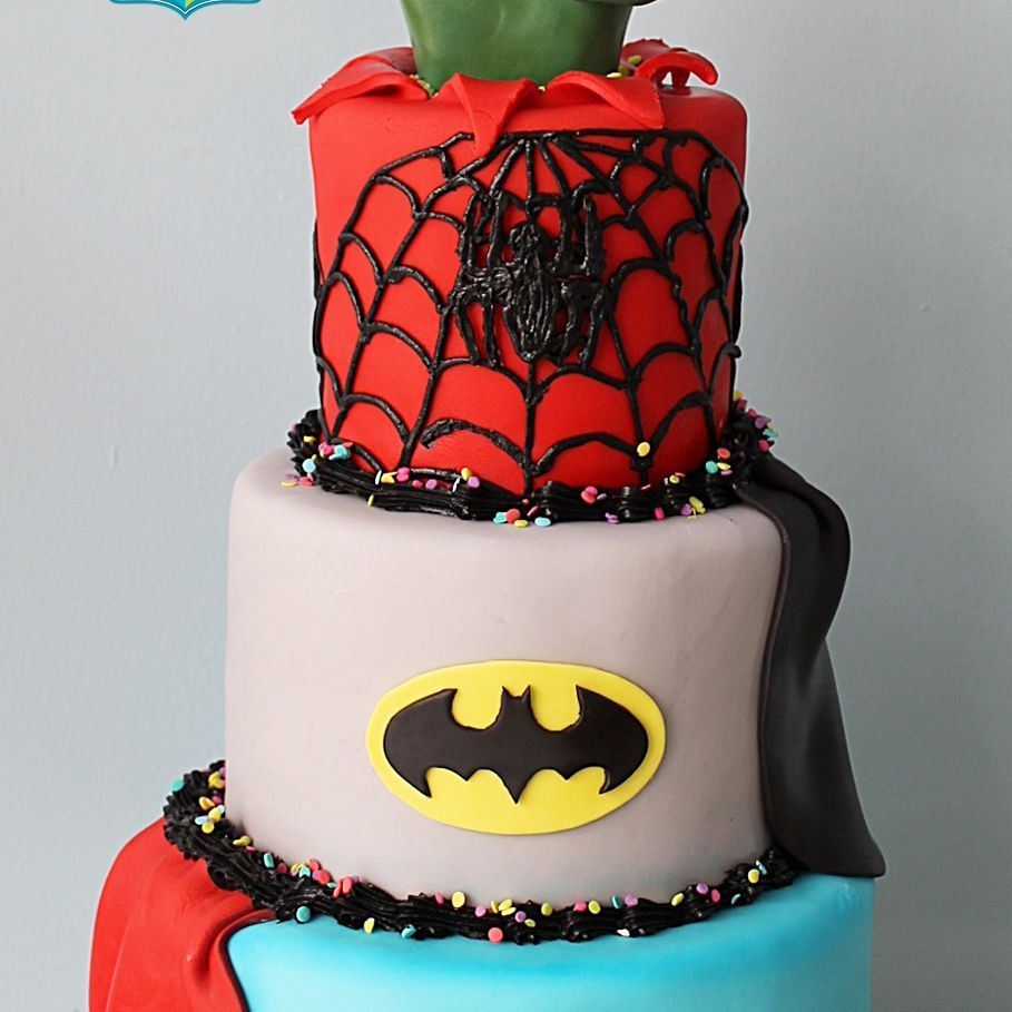 Custom Superhero Cake Milwaukee