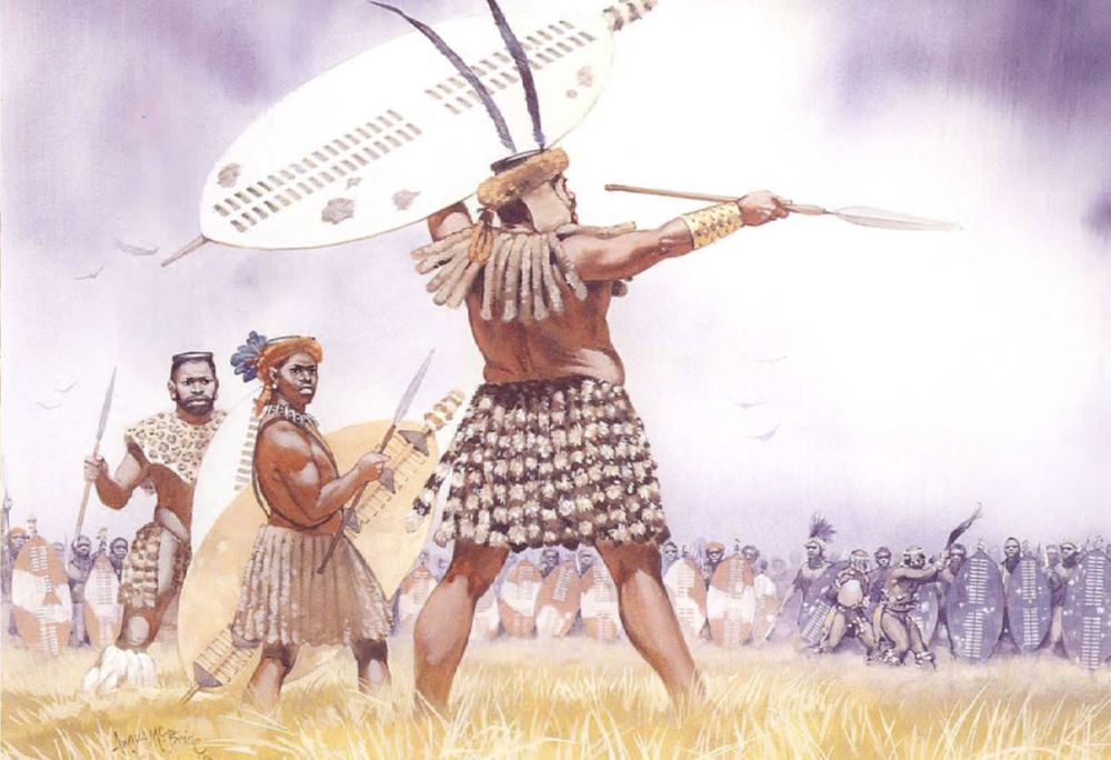Zulu Warrior Posturing