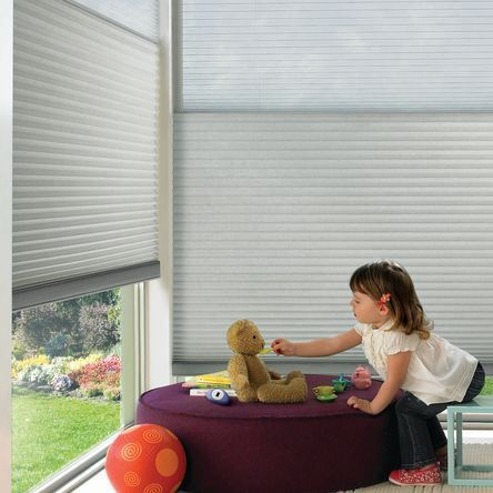 Hunter Douglas Duette Honeycomb shades include GREENGUARD GOLD certification, helping keep indoor air quality safe for your family.