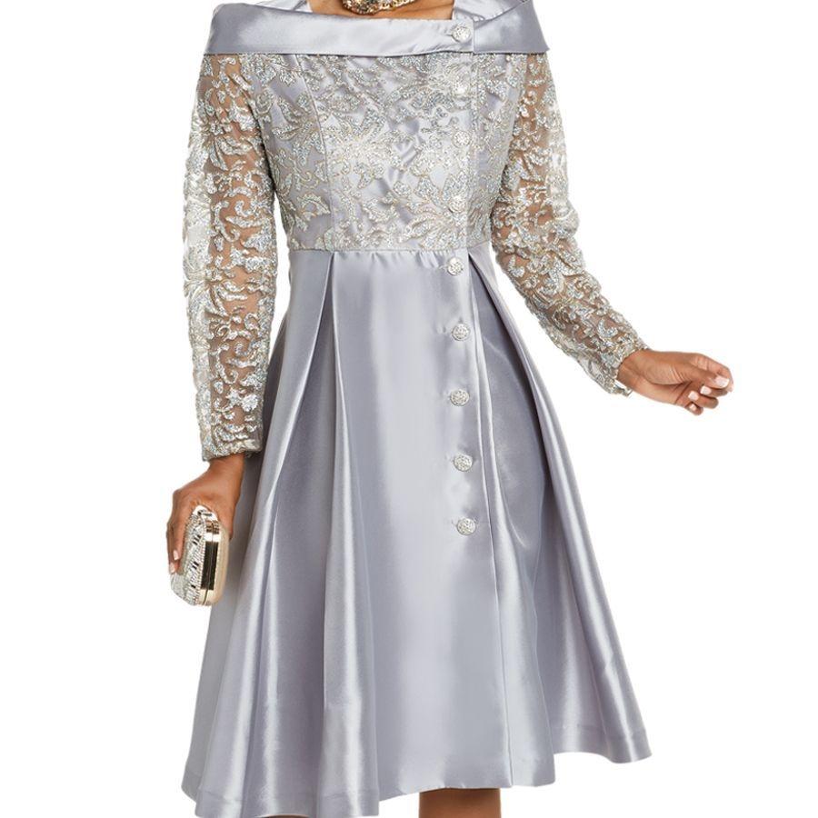 silver dress formal