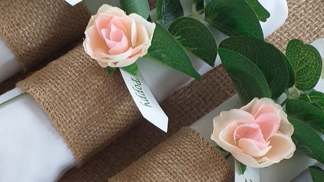 Rustic Wedding Napkin Rings