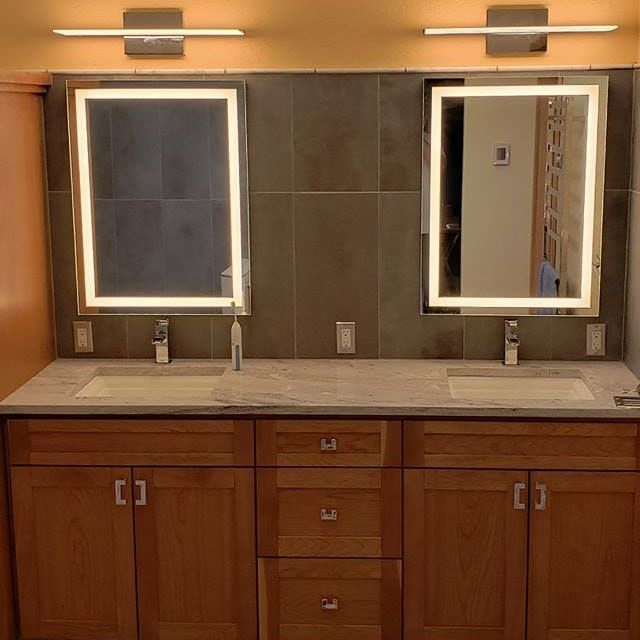 Custom Double Sink Vanity