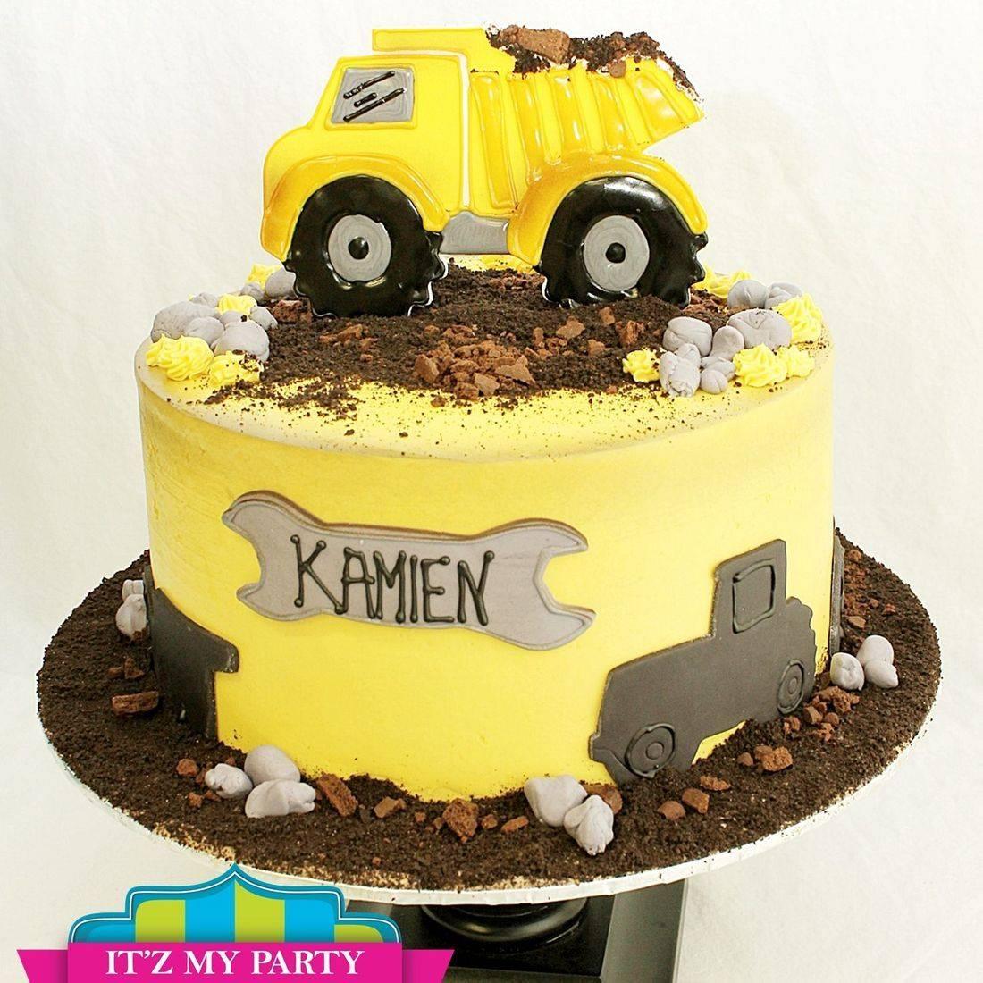 Construction stylized cakes milwaukee