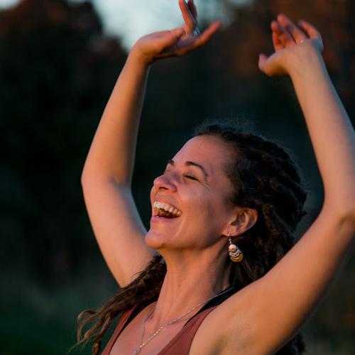 woman dancing ecstatically