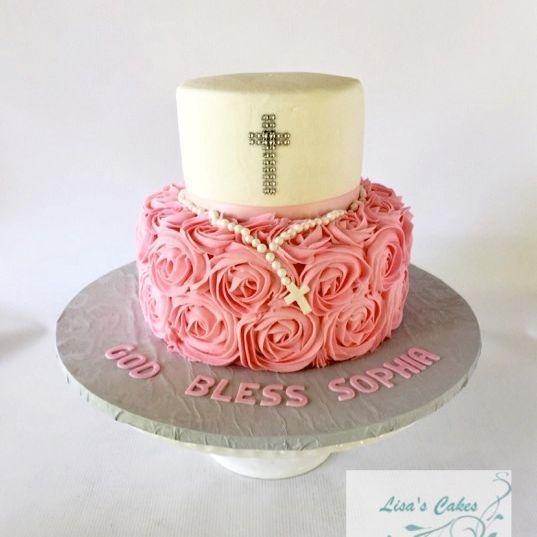 Girl Baptismal/Communion Cake