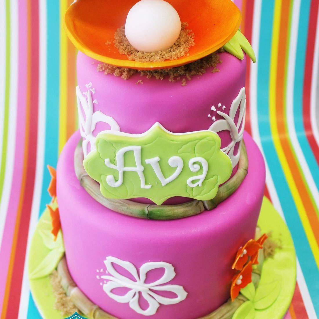 Custom  Luau Tropical Cake  Milwaukee