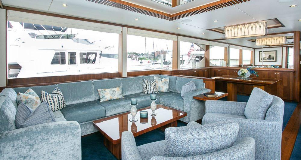 Newport Yacht Interiors, custom yacht cushions, Ocean Alexader