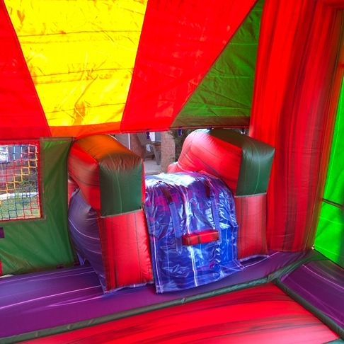 marble castle bounce house slide combo