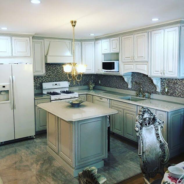 Modern Marble Kitchen Renovation Arcedo Construction