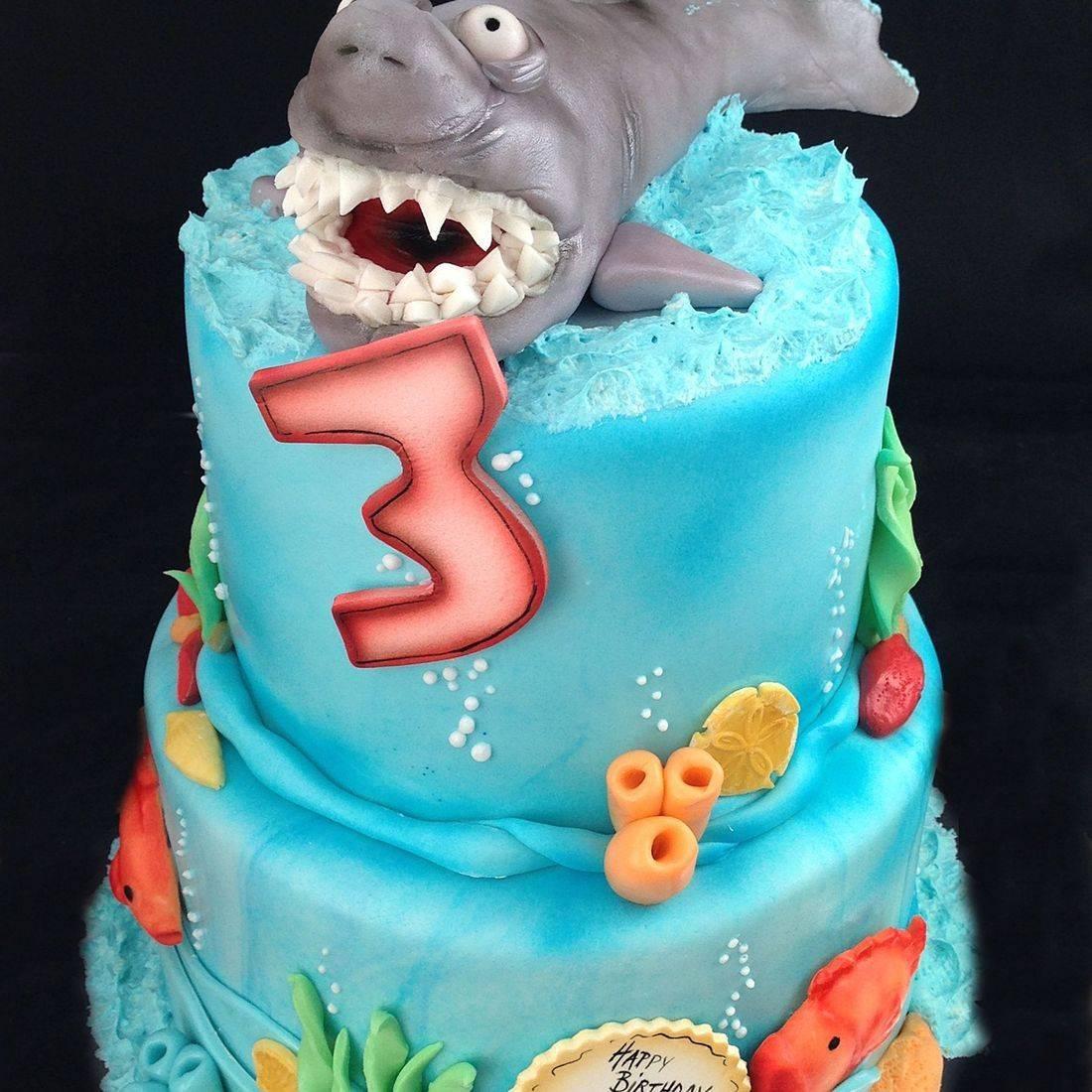 Custom Shark under the sea nautical Cake Milwaukee