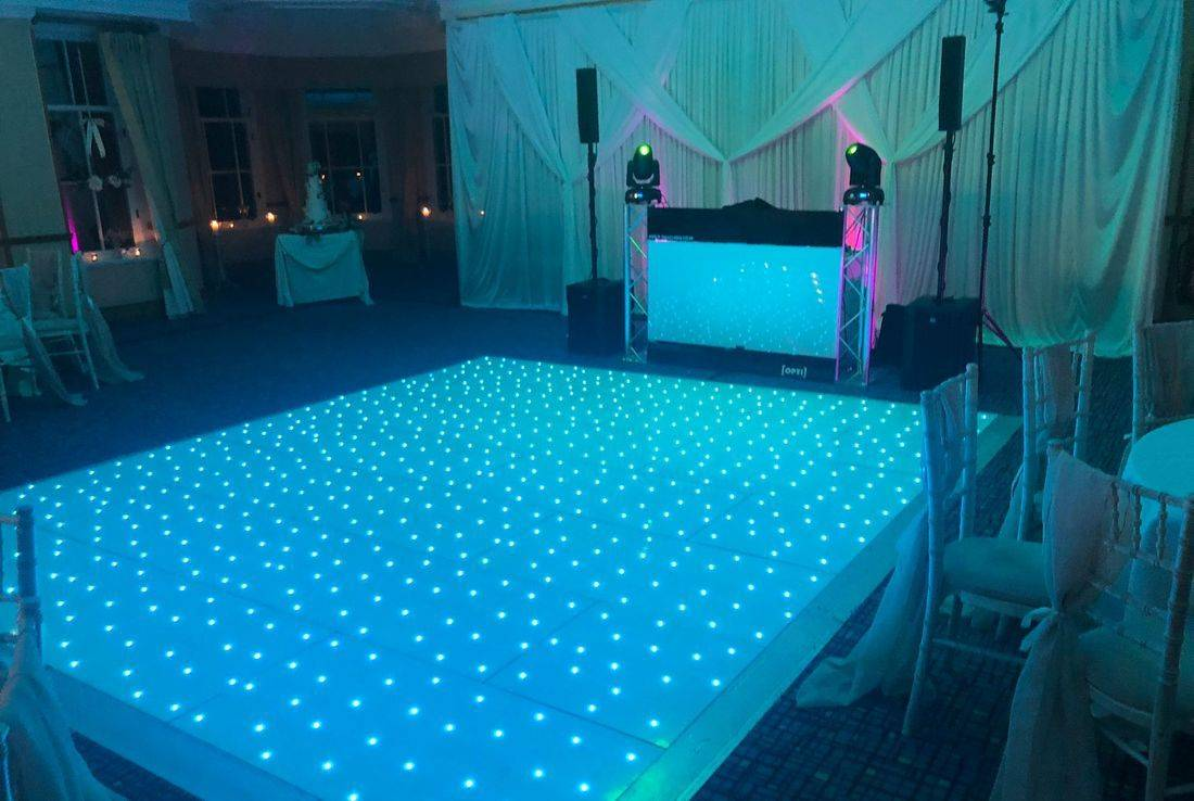 Ardencote Manor Warickshire Led Dancefloor Wedding DJ