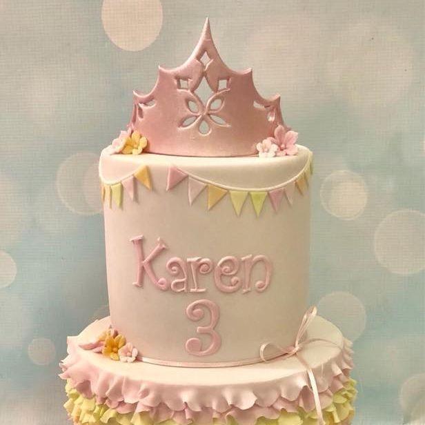 Princess Cake Cupcakes Tiara Crown Gold marble Mint Coral Pretty Rose Cake Celebration