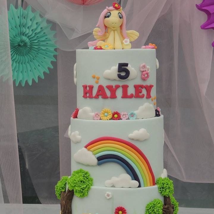 MLP Little Pony Cake Rainbow Dash Fluttershy Rainbow Birthday Cake