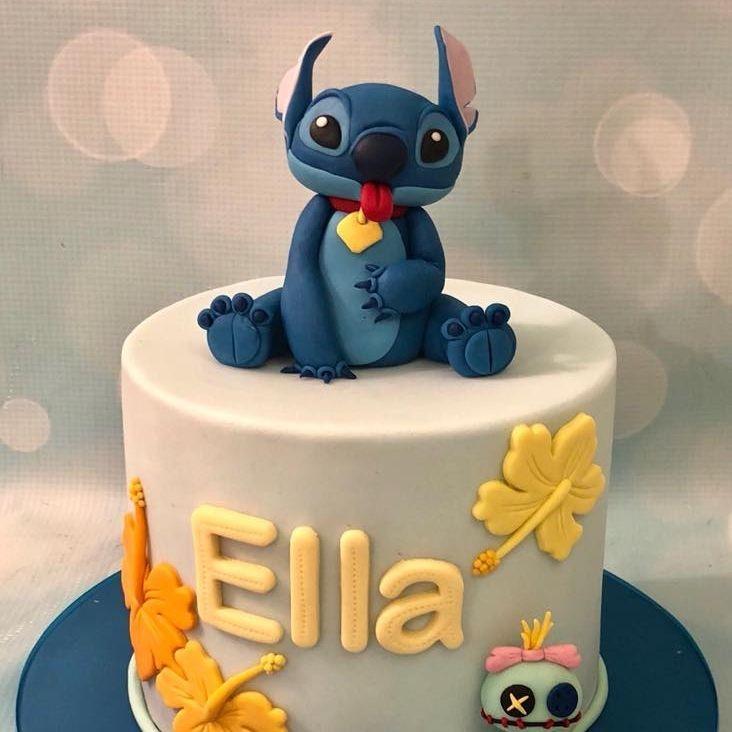 Stitch Birthday Cake Lilo Hibiscus