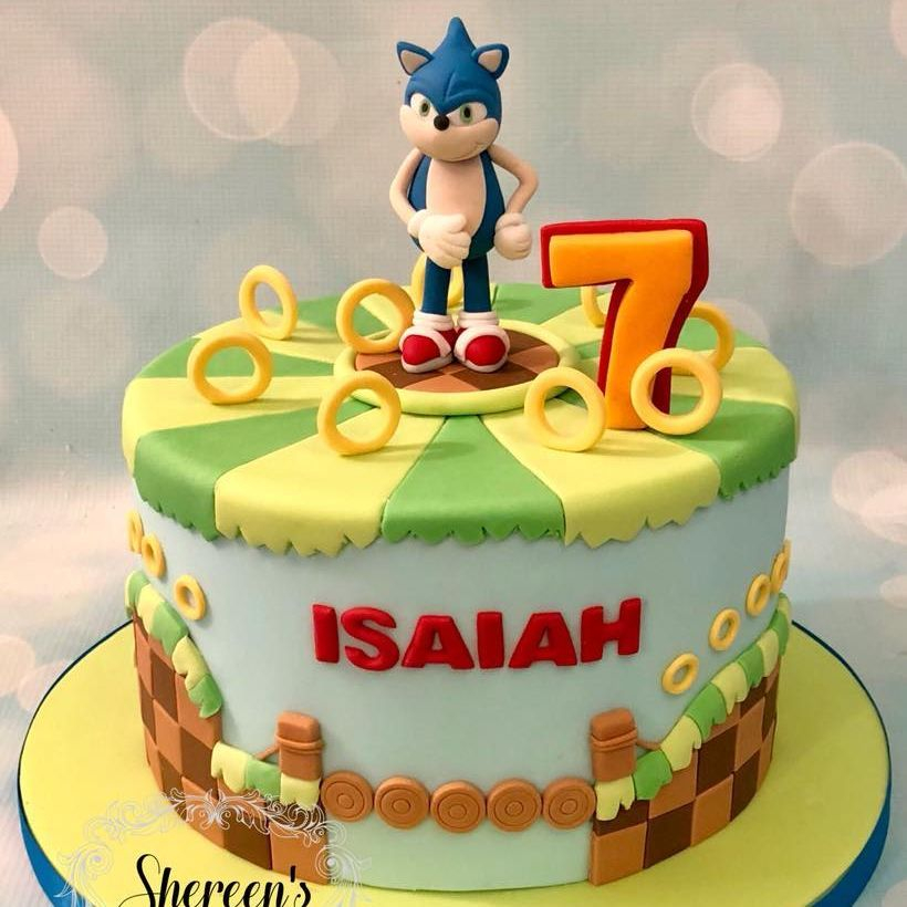 Sonic Hedgehog Cake Birthday