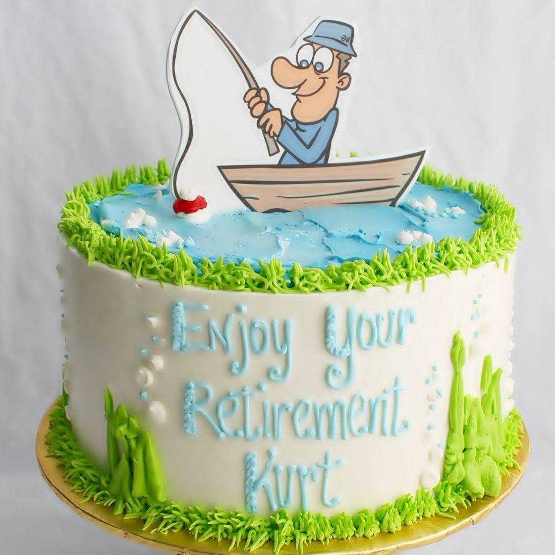Retirement Fishing stylized cakes milwaukee