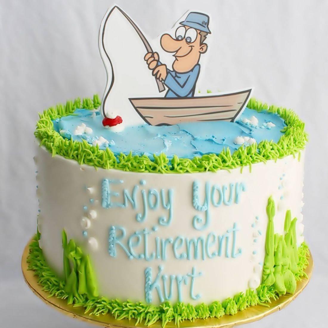 Retirement Fishing stylized cakes milwaukee