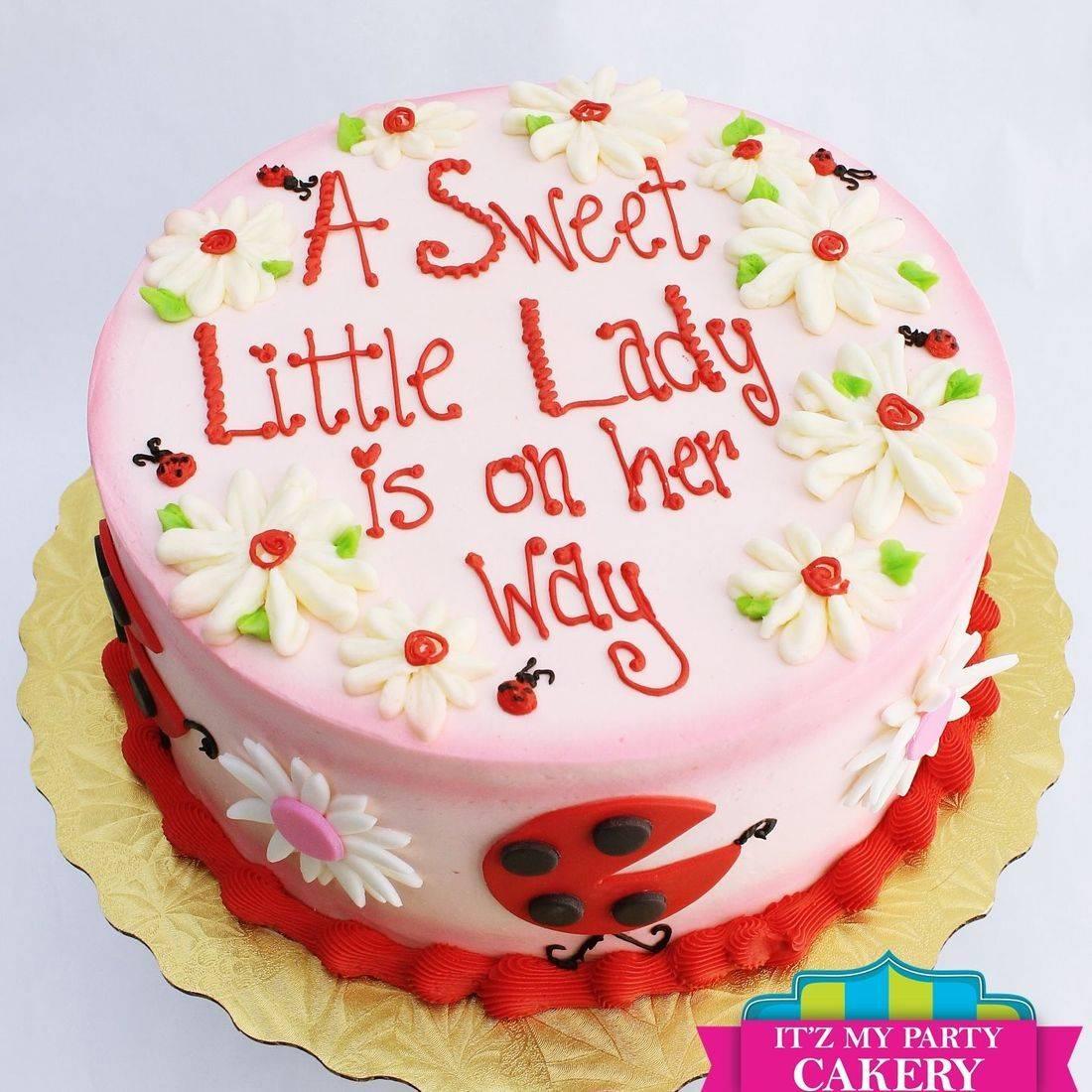 Ladybug Baby Shower stylized cakes milwaukeeRetirement Fishing Cake