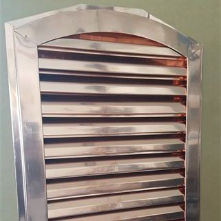 Copper arch top gable vent