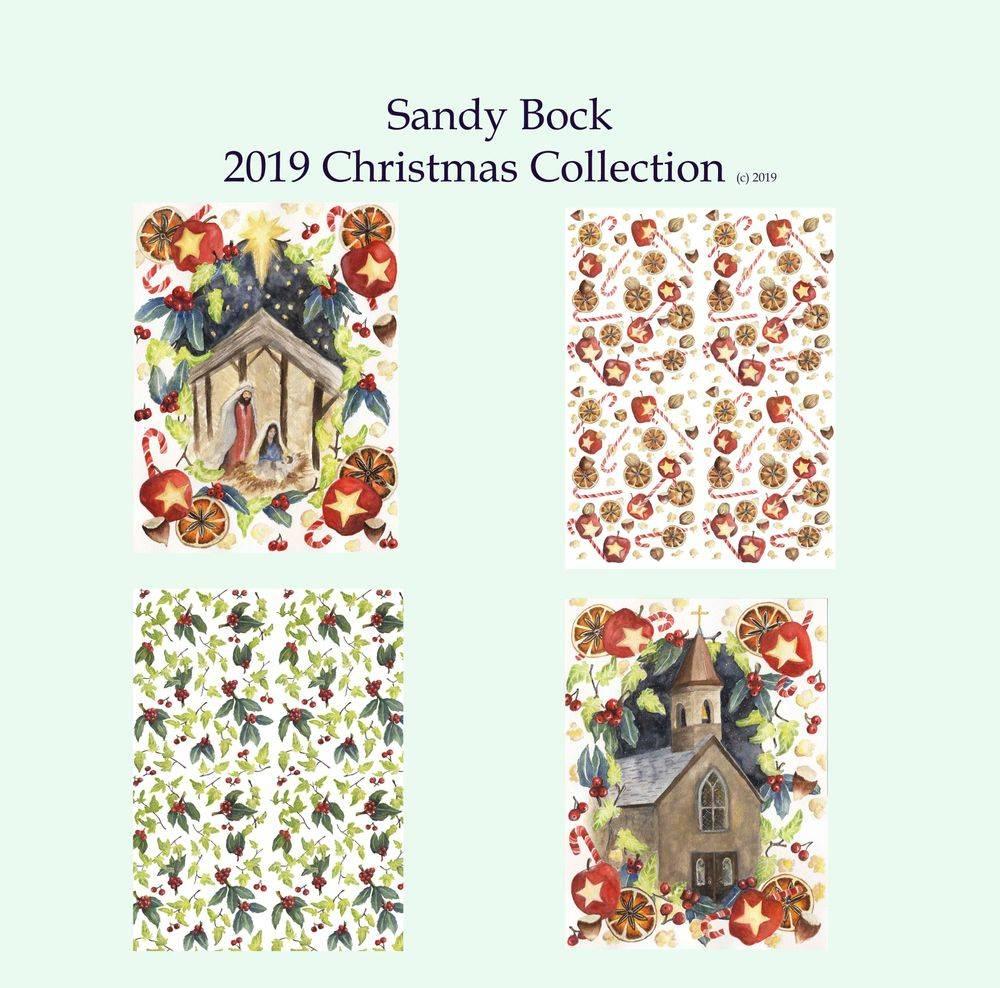 sandy bock, religious art, christian art, christmas, christmas art, christmas illustration, nativity art, church art