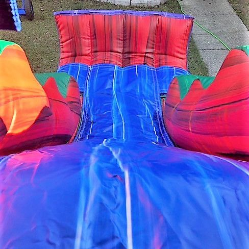 marble castle bounce house slide combo
