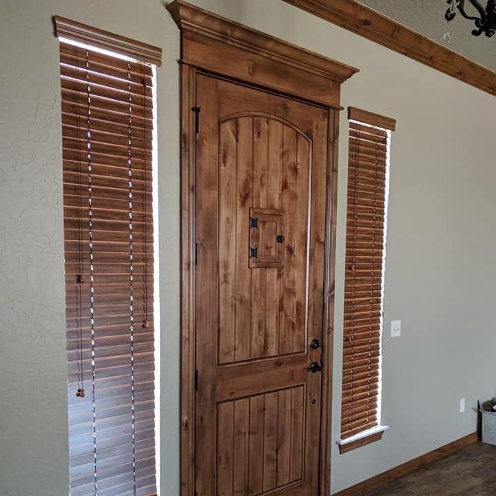 wood blinds in mustang