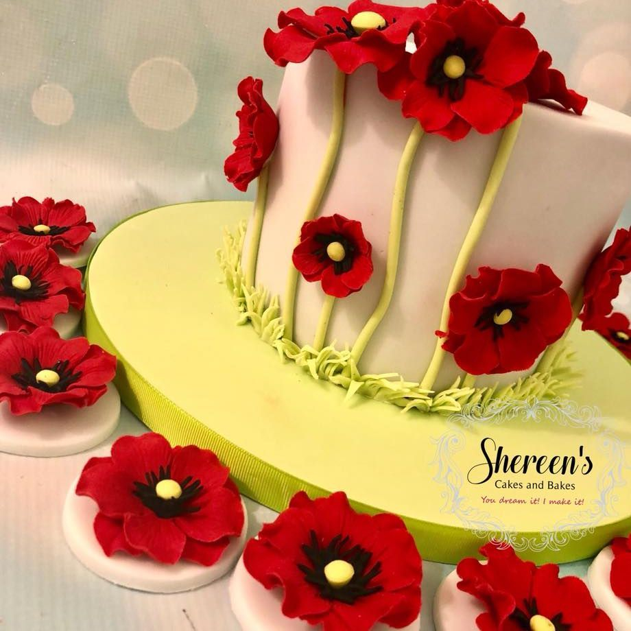 Poppy Flower Cake Cupcakes Birthday