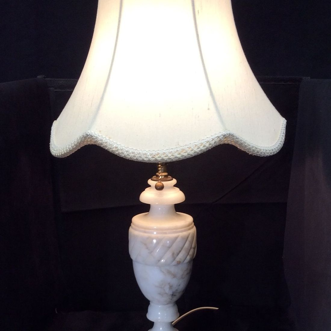 "C. 1950's/60's Alabaster 24""H Table Lamp (newly rewired)   $85.00"