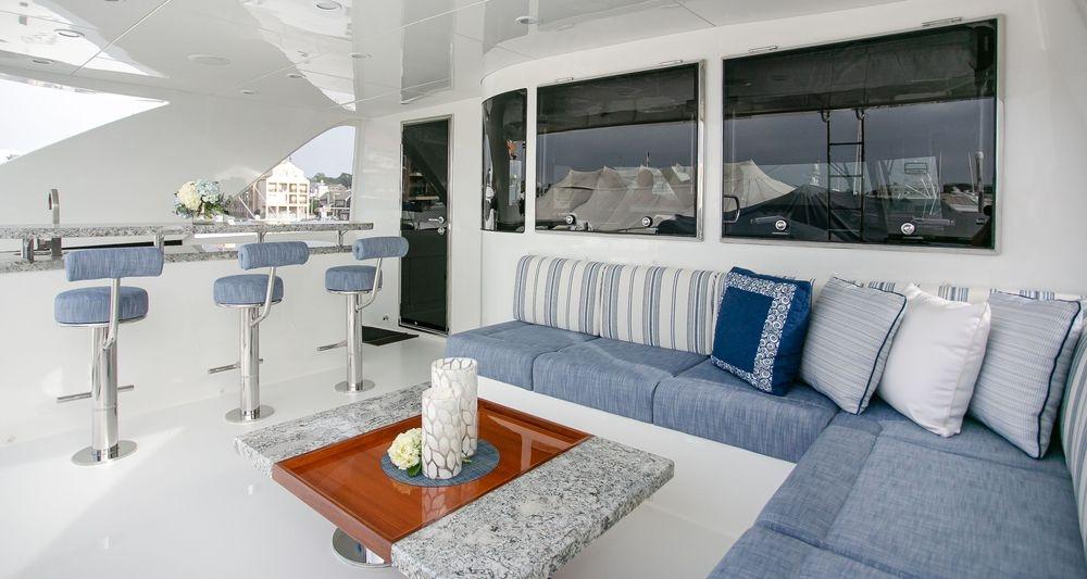 Ocean Alexander, Newport Yacht Interiors, Perennials fabrics