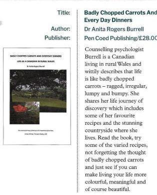 book reviews, Welsh Country magazine, Anita Rogers