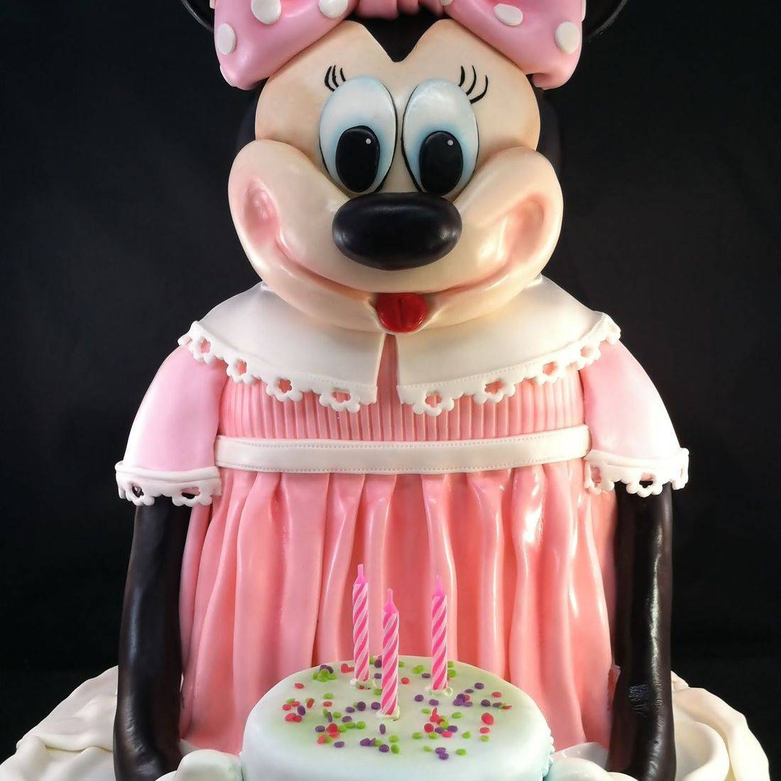 MInnie Mouse Birthday  Cake Carved Dimensional Cake Milwaukee