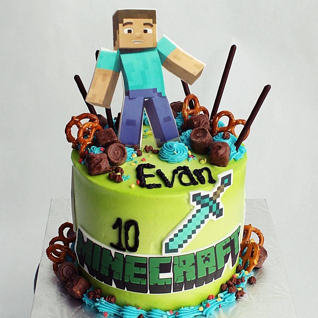 Minecraft stylized cakes milwaukeeRetirement Fishing Cake