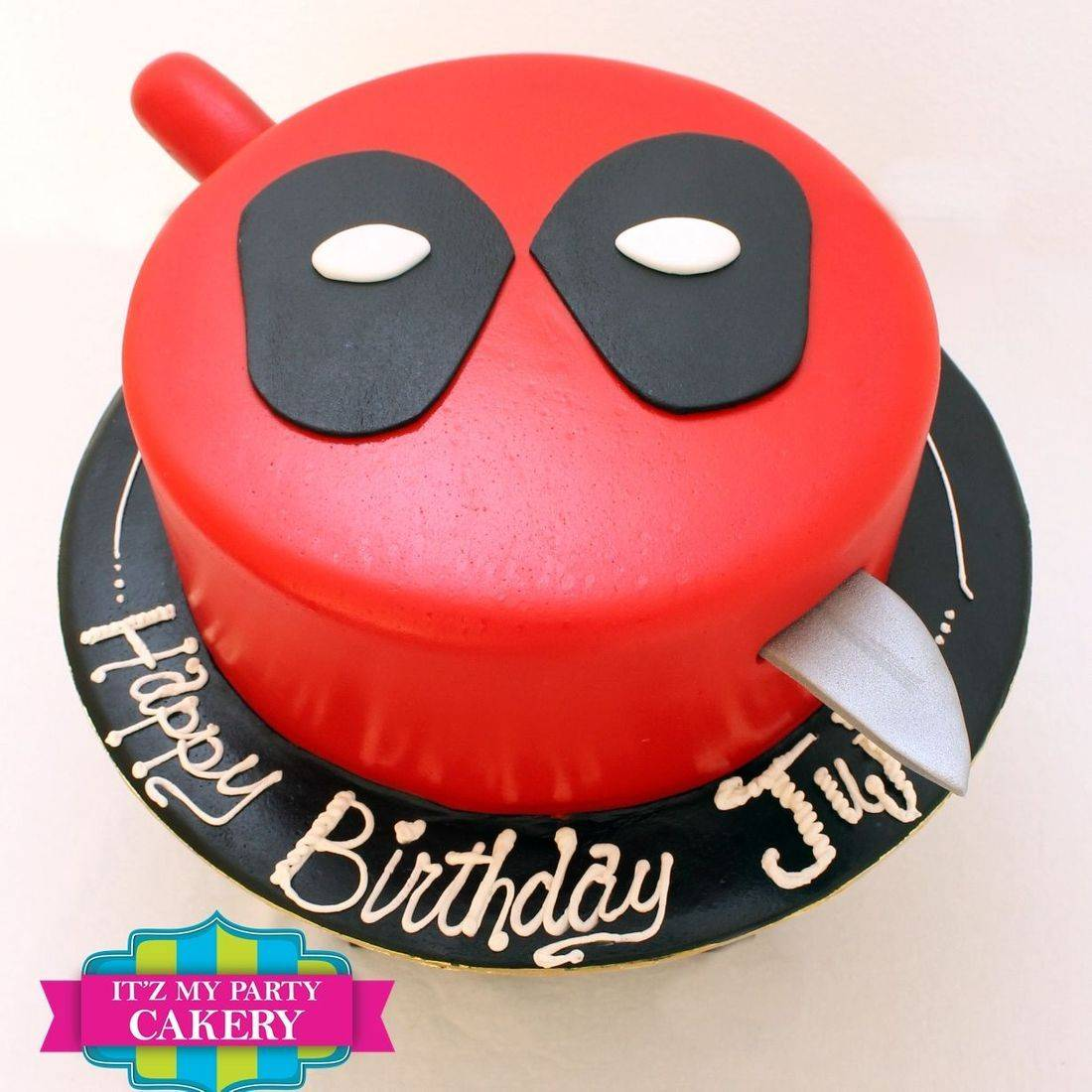 Custom Deadpool Cake Milwaukee