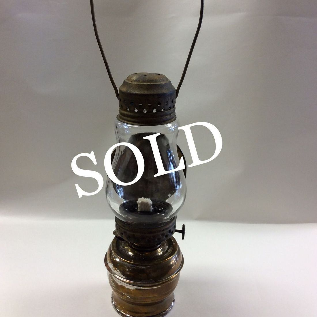 """Vintage """" All Night """" Skaters Oil Lamp w/Reflector 'SOLD'"""