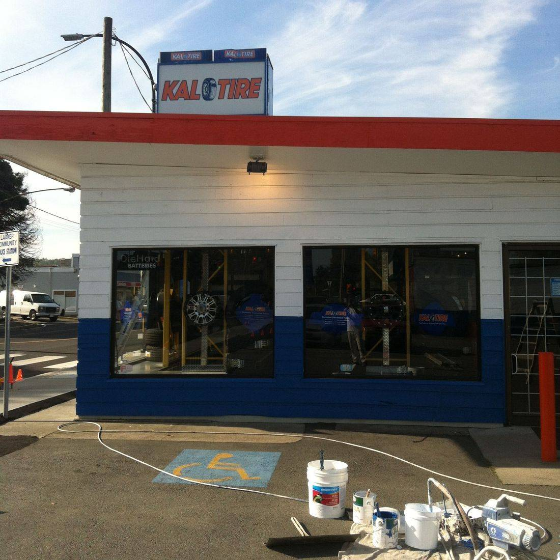 Retail painting of Kal Tire Ladner.