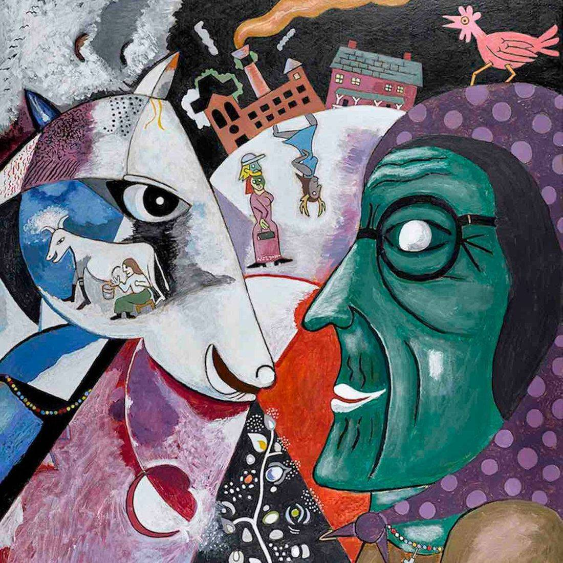 Marc Chagall, Village and I, Grandmother, Factory, Anthony Mill, Chicken, Pollution, Polka Dots, Babushka